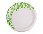 Smile Paper plates 22cm, 12 pcs, Leaves