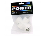 3-gang socket extension, white