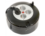 4 socket cassette reel 10m, black