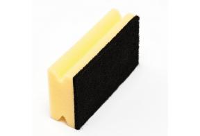 McLean-Prof. Scouring sponge 15 cm with black abrasive, 1 pcs